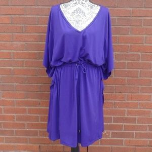 Spense Plus Purple Drawstring Dress 3X